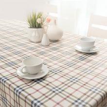 FOOJO富居桌布耐高温防水防油PVC台布餐桌布艺135*180cm方格