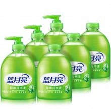 蓝月亮芦荟抑菌洗手液套装:洗手液瓶500g×3+洗手液瓶补500g×3