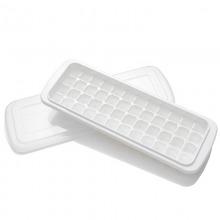 奥美优 家用创意冰格冰糕冰块模具 冰箱制冰盒DIY制冰器 白色48格 带盖 AMY5031
