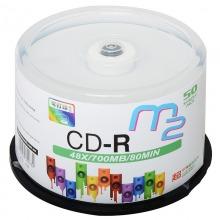 麦克赛尔(maxell)CD-R光盘 刻录光盘 光碟 空白光盘 可打印光盘 M2系列48速