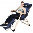 凯速折叠椅躺椅午睡陪护床坐躺两用椅折叠床加棉垫 FC52藏青色