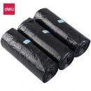 得力(deli)9587 90只中号平底垃圾袋 45×50cm 黑色 3卷装