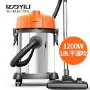 亿力YILI 家用车载桶式吸尘器 干湿吹三用装修吸尘器标准版YLW6201-18L 220v