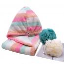 芳草地 细纤维干发帽强效吸水干发巾浴花浴室用品沐浴球洗澡球套装 3件套