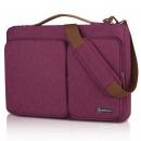 英制(BRINCH)时尚商务电脑包单肩手提内胆包防水美版苹果联想华硕笔记本包BW-237 15.6英寸紫色