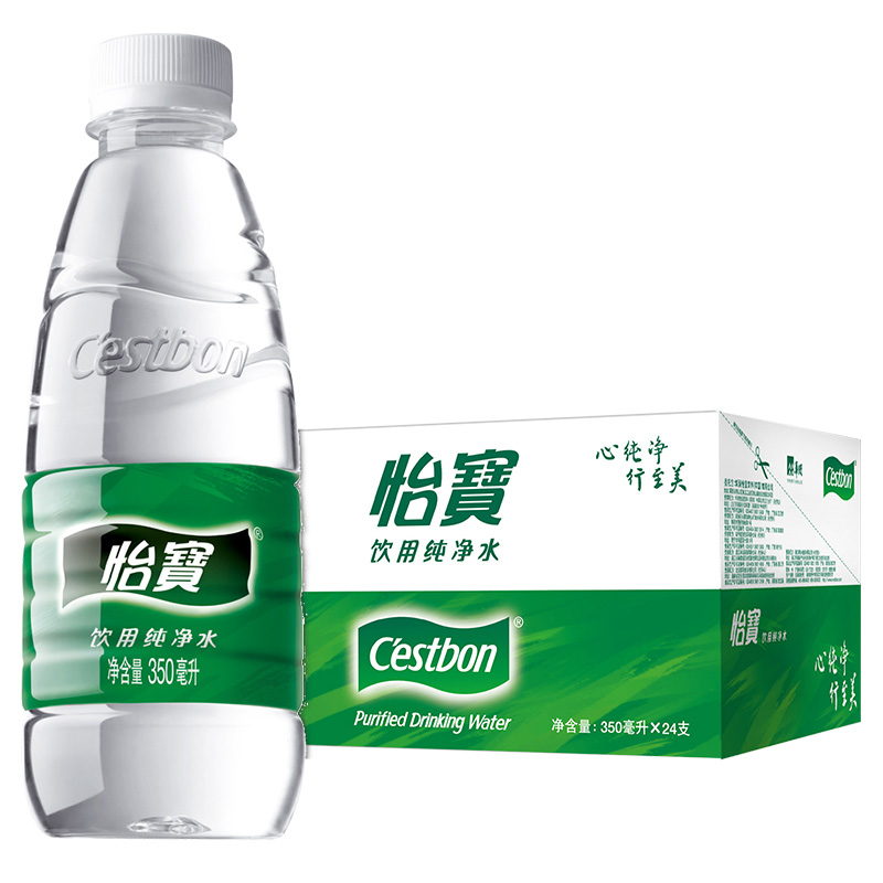 怡宝 饮用纯净水 350ML 24瓶/箱
