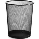 国产铁质网状垃圾桶纸篓 中号(直径:26CM 高:28CM)  黑色