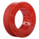 德力西(DELIXI)电线电缆 BVR4平方 单芯多股铜线 国标照明空调电源家装家用铜芯电线 100米 红色火线
