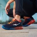 鸿星尔克ERKE跑鞋新款情侣款全掌气垫减震运动慢跑鞋男款 51116120028 芙蓉橙/彩蓝 42