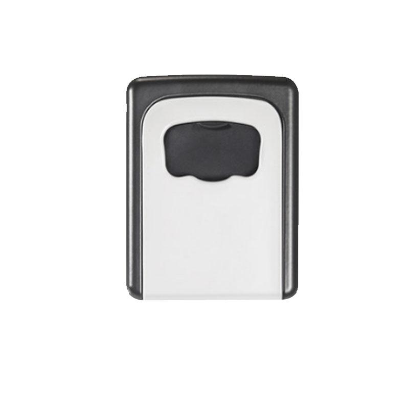 金隆兴 家用钥匙盒 壁挂锁匙收纳盒 备用钥匙 密码盒 门口 灰色 免安装移动式 金属