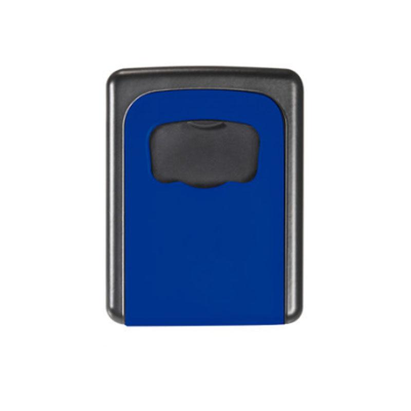 金隆兴 家用钥匙盒 壁挂锁匙收纳盒 备用钥匙 密码盒 门口 蓝色 免安装移动式 金属