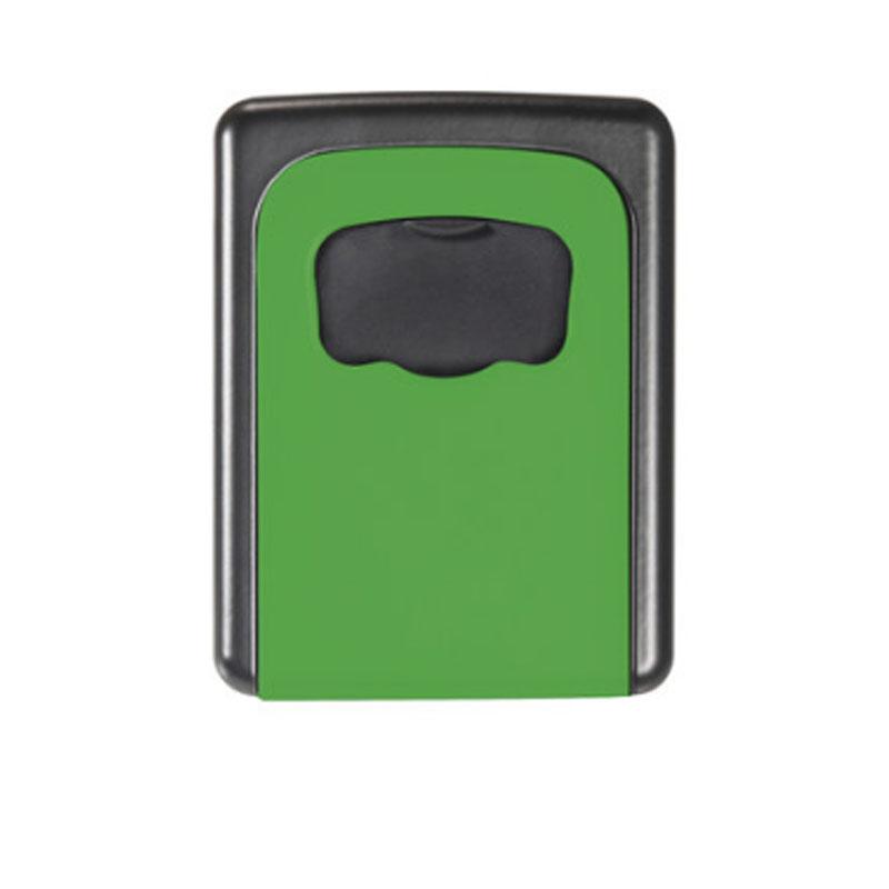 金隆兴 家用钥匙盒 壁挂锁匙收纳盒 备用钥匙 密码盒 门口 绿色 免安装移动式 金属