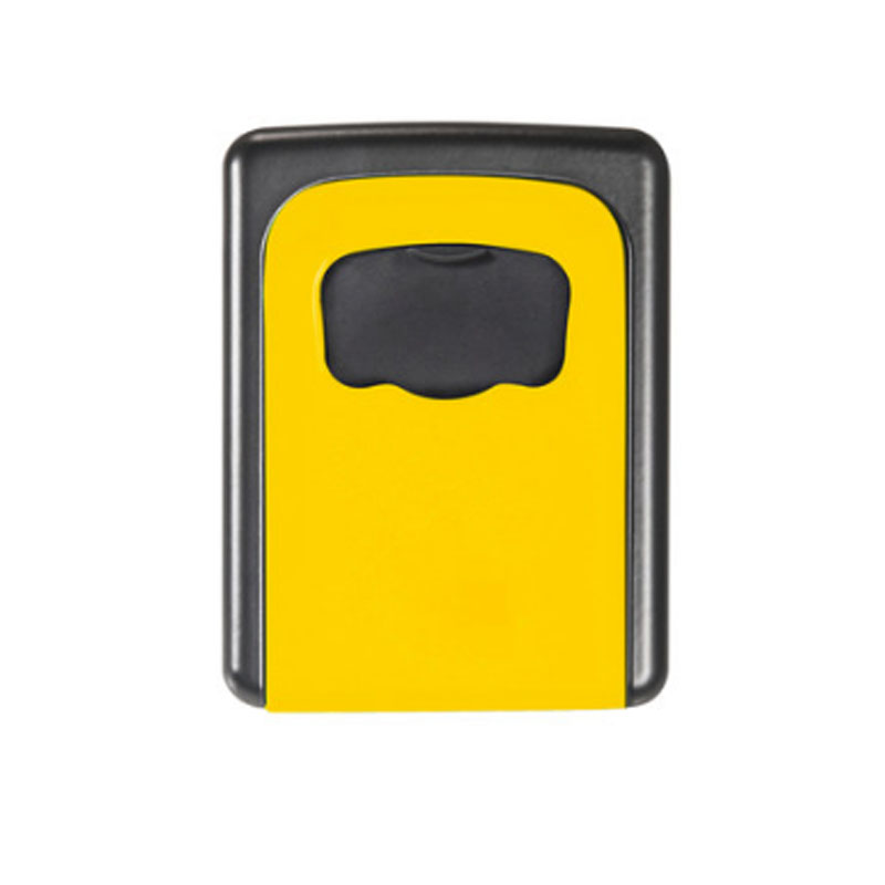 金隆兴 家用钥匙盒 壁挂锁匙收纳盒 备用钥匙 密码盒 门口 黄色 免安装移动式 金属