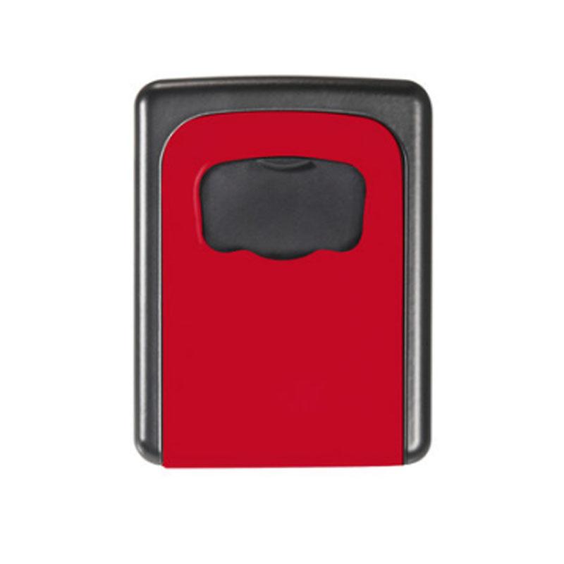 金隆兴 家用钥匙盒 壁挂锁匙收纳盒 备用钥匙 密码盒 门口 红色 免安装移动式 金属