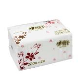心相印 RDT200 商用200抽塑裝軟抽雙層面巾紙 3包/提