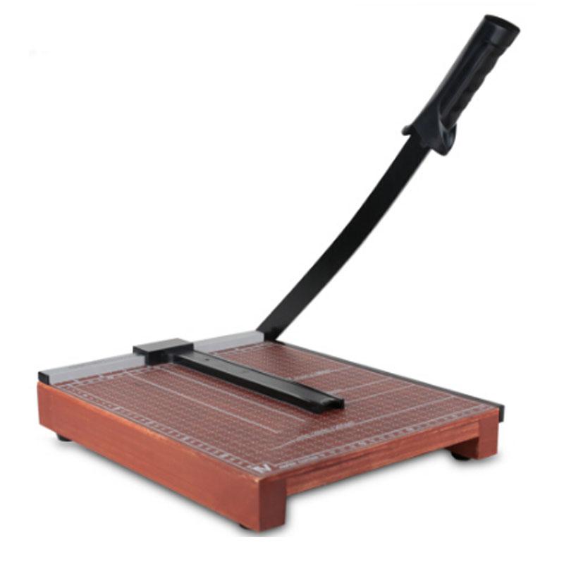 得力(deli) 8004 木质切纸机/切纸刀/裁纸刀/裁纸机 12*10CM 可切B4/A4/B5/A5/B6/B7多尺寸