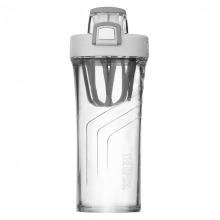 THERMOS膳魔师朱一龙同款便携运动Tritan塑料水杯710ML蛋白粉奶昔摇摇杯 TP4086 GY浅灰色