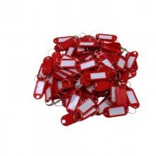 斯图(sitoo)免邮 塑料钥匙牌号码牌标签分类牌吊牌挂牌锁匙牌钥匙盘板圈串环扣 红色 一