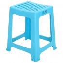 茶花 塑料凳子条纹中方凳高35cm 0848