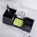得力(deli)9118 六格简约桌面收纳盒 商务办公笔筒 黑色