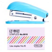 得力(deli)0253 迷你型订书机套装(订书机+订书钉)颜色随机