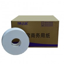 洁客(JK)JK04C原生木浆大盘纸 四层 12盘/箱 800g