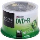 索尼(Sony)DVD+R 16速 4.7G 刻录光盘 ?#30333;?50片/桶