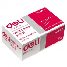 得力(Deli)0016 金属原色大头针 24mm 50枚/盒