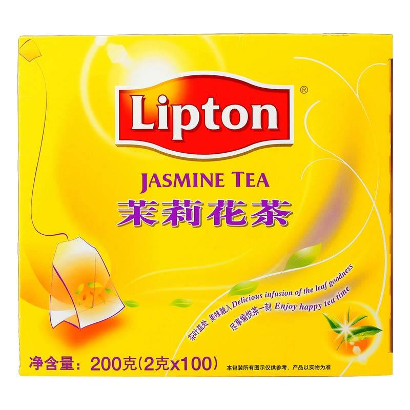 立顿(lipton)清新茉莉花茶 2g*100包/盒