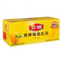 立顿(lipton)清香型黄牌精选红茶 2g*25包/盒