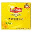 立顿(lipton)清香型黄牌精选红茶 2g*100包/盒
