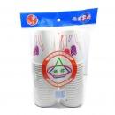 绿奥 一次性纸杯(紫红花朵)210G精装纸杯 50个/提