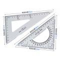 得力(Deli)6420 塑料三角尺 20cm 2个/套