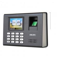 得力(deli)3946 指纹考勤机 打卡机 指纹容量1800枚(彩屏语音)黑色
