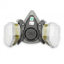 3M 防尘全面具口罩防毒防雾霾有机蒸气6200+6006多种气体 7件套