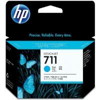 惠普(hp)CZ134A/711 青色墨盒(适用HP T120/T520/hp711)3个/盒