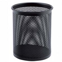 晨光(M&G)ABT98403 圆形金属笔筒 黑色 一个装
