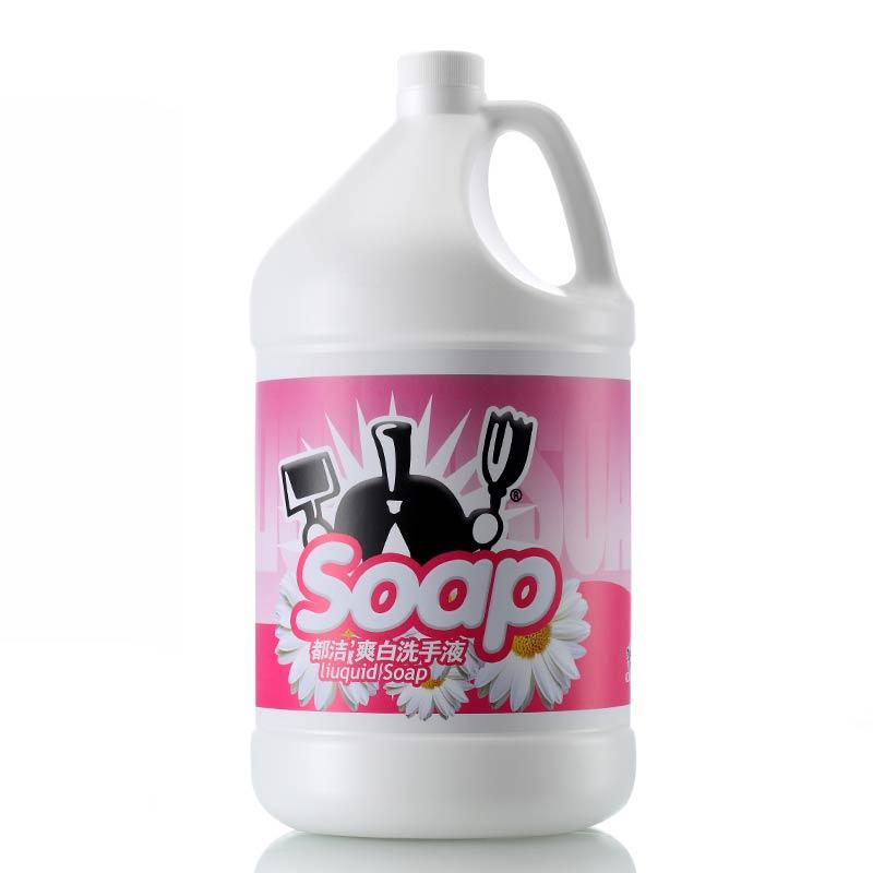 都洁 (Dujie)  爽白桶装粉色洗手液3.5KG超值装