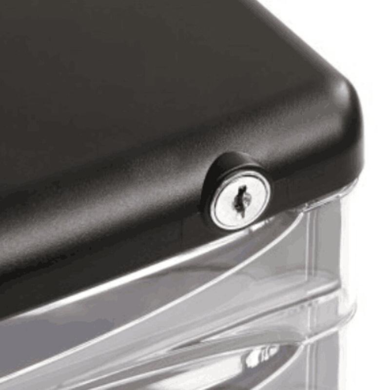 得力(Deli)9794 四层塑料文件柜(透明抽屉带锁)270*360*260mm 黑色