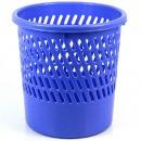 得力(deli)9553 网状优质耐用圆纸篓/清洁桶/垃圾桶 蓝色