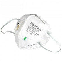 3M 9003v 儿童透气防尘防雾霾 PM2.5 带呼吸阀折叠式口罩 25只装
