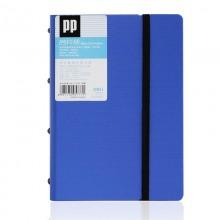 得力(deli) 5777 新工艺加厚PP材质名片册 蓝色 120枚