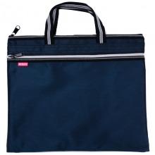 晨光(M&G) ABB93097 双色提花手提袋 A4 深蓝色