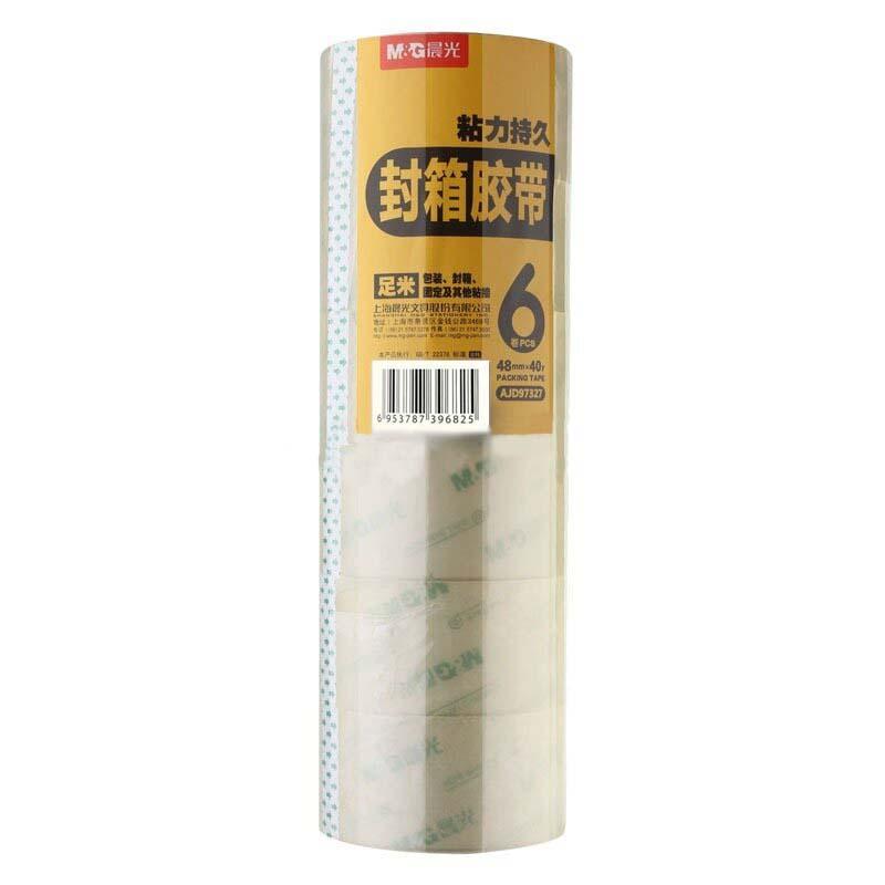 晨光(M&G)AJD97327 透明封箱胶带 48mm*40y 6卷/筒