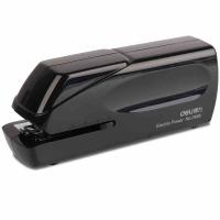 得力(deli)双电源电动订书机 电子自动装订订书机 适配24/6或26/6订书钉 白色0489