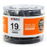 晨光(M&G)ABS92610-19mm 金属黑色长尾夹 40枚/筒