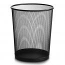 得力(deli)9189 稳固铁网圆纸篓|垃圾桶 φ295mm大号 黑色