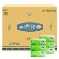 心相印 H200 茶语系列盒装面巾纸200抽 3盒/提 12提/箱