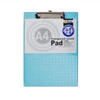 晨光(M&G)ADM94512 透明斜纹书写板夹/垫板 A4 318*220mm 蓝色