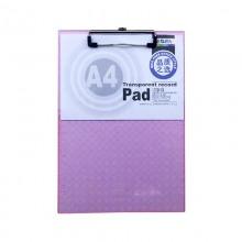 晨光(M&G)ADM94512 透明斜纹书写板夹/垫板 A4 318*220mm 红色